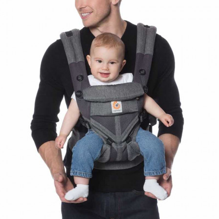 Ergobaby Omni 360 Cool Air Mesh Grey Melange - carrier Expandable 4 Positions