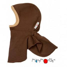 Manymonths hood baby pure merino wool Chocolate almond