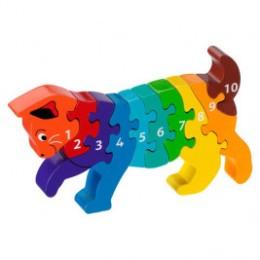 Puzzle Cat 1-10 wooden Lanka Kade