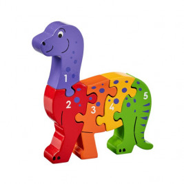 Puzzle Dinosaur 1-5 wooden Lanka Kade