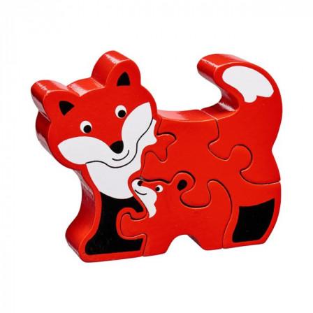 Puzzle Fox and baby wooden Lanka Kade