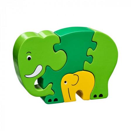 Puzzle elephant and baby wooden Lanka Kade