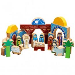 Lanka Kade Bloc de construction crèche de Noël - Jouet en bois