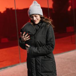 Love and Carry Manteau de portage et de grossesse V2 Noir