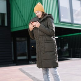 Love and Carry Coat babywearing and pregnancy V2 Khaki