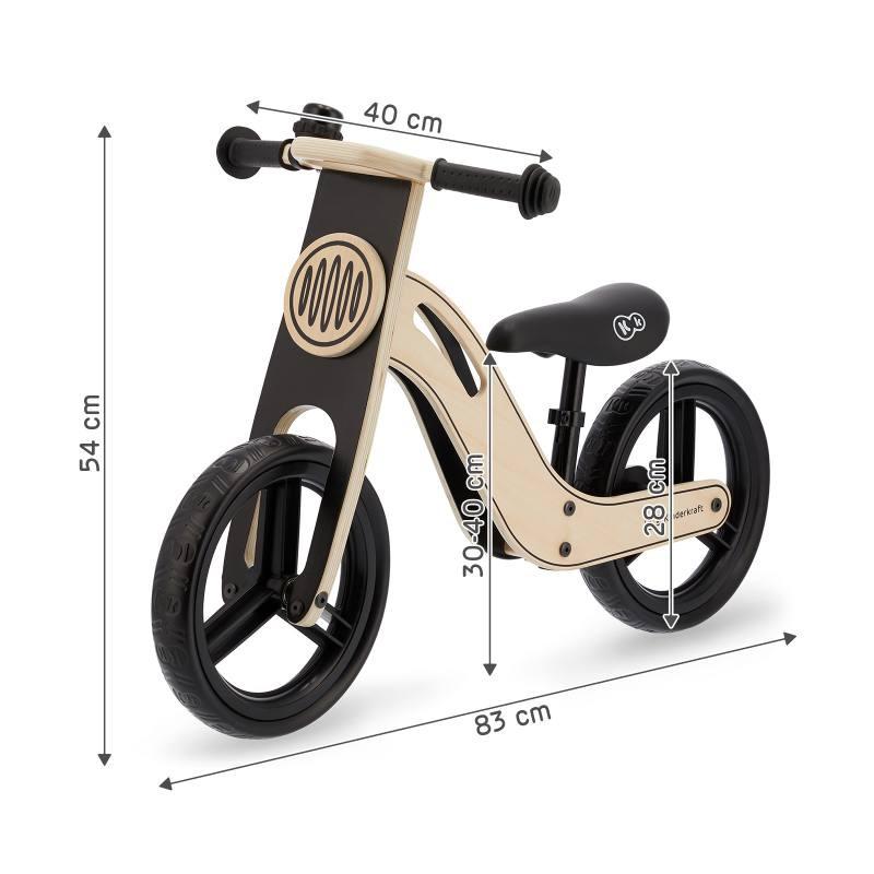 """style moto Velo sans pedale en bois /""""draisienne/"""" bleu des 20 mois a 4 ans"""