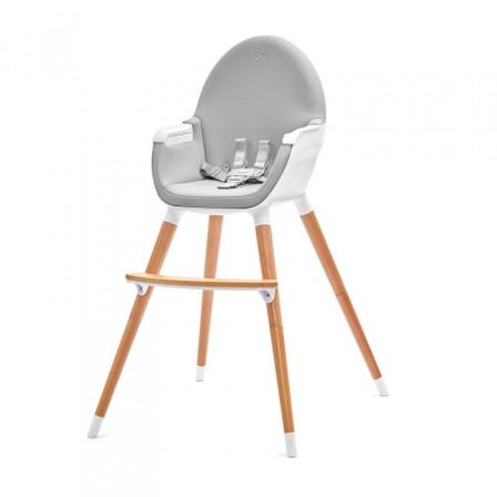 Kinderkraft Fini Gris - Chaise haute 2 en 1