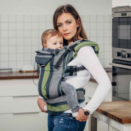 Lennylamb Babysize Smoky Lime - baby carrier