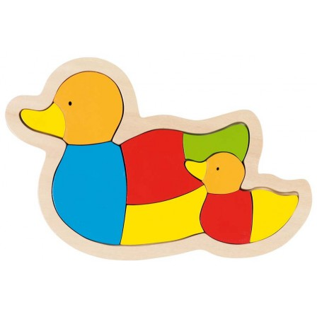 Puzzle wooden family duck by Goki