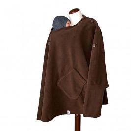 MaM Äiskä Babywearing Poncho Polar Fleece Chocolate Brown