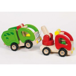 Tow trucks in wood by Goki
