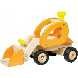 Tractor loader large model in wood by Goki