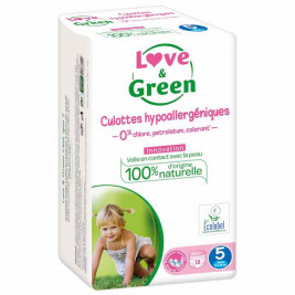 Love and Green Pack 4x18 training Pants size 5 (12 to 18 kg)