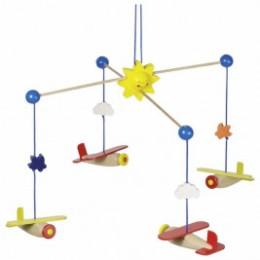 Goki Mobile airplane - wooden toys