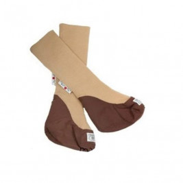 Manymonths Slippers portage in pure wool Almond Chocolate