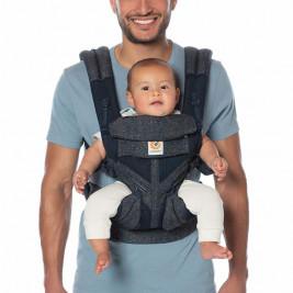 Ergobaby Omni 360 Cool Air Mesh Bleu Tweed - Porte-bébé Évolutif 4 Positions