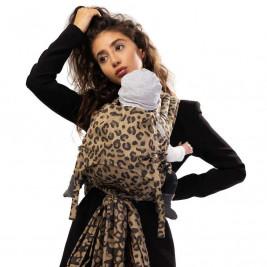 Fidella Fly Tai Leopard golden (Size Baby) - Porte-bébé meï-taï