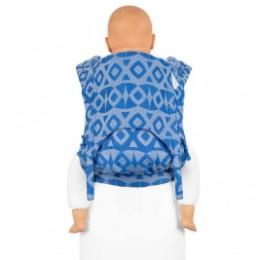 Fidella Fly Tai Night Owl soft blue (size-toddler) - Porte-bébé Meï-taï