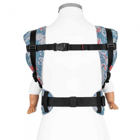 Fidella Melting Sea Anchor maritime blue (Size Baby) - baby carrier
