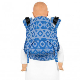 Fidella Fusion 2.0 Fullbuckle Chevron blue - Bears-toddler