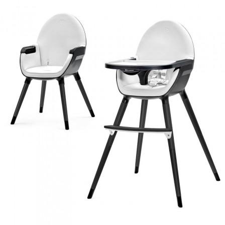 Kinderkraft Fini Chaise blanc noir haute 2 en 1