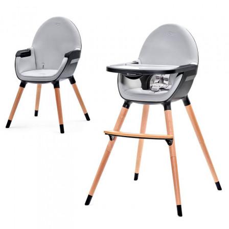 Kinderkraft Fini Chaise noire haute 2 en 1