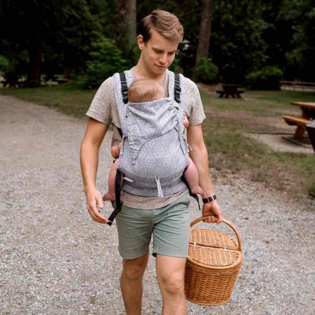 Fidella Fusion Paperclips Blue ash (Size of Baby) - baby carrier