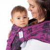 Fidella Flyclick Rock n Rolla Fuchsia et noir (Taille bébé) - Porte-bébé Halfbuckle