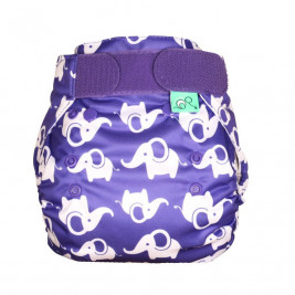 Totsbots Peenut Smelliphant fitted diaper cover Size 2