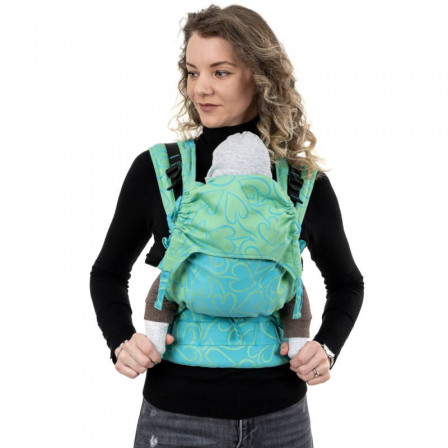 Fidella Fusion green Heart (Size of Baby) - baby carrier