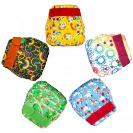 Totsbots Pack 5 couches lavables Easyfit Star V5 TE1 imprimées
