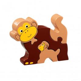 Puzzle Panda and baby wooden Lanka Kade