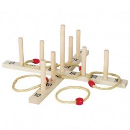 Goki Jeu de lancer d'anneaux - Jeu de plein air en bois