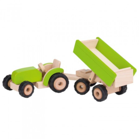 Tractor with trailer green