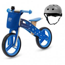 Kinderkraft Runner - Draisienne en bois  avec casque