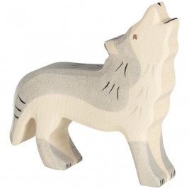 Wolf howling Holztiger