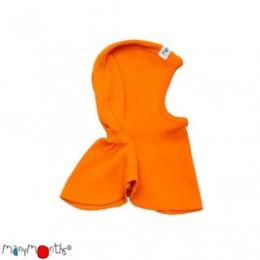 Manymonths Festive Orange - Cagoule bébé pure laine mérinos