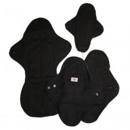 MAM Ecofit Kit d'essai Serviette Hygiénique Lavable Noir