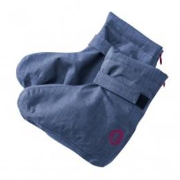 Mamalila Winter Booties chaussons de portage bleu