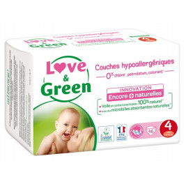 Love and Green Couches jetables taille 4 (7 à 14 kg) x46