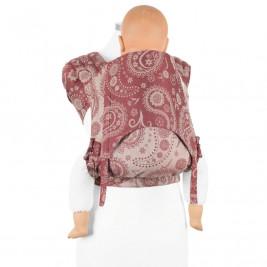 Fidella Fly Tai BIO Persian Paisley Rubis porte-bébé meï-taï taille bambin 9m+