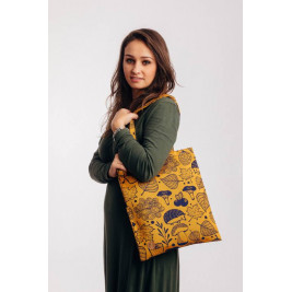 Sac Tote Bag Sac en tissu d'écharpe Lennylamb UNDER THE LEAVES - GOLDEN AUTUMN