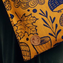 Sac Tote Bag Sac en tissu d'écharpe Lennylamb UNDER THE LEAVES - GOLDEN AUTUMN