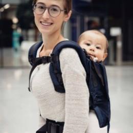 Limas Flex Dark Denim porte bébé physiologique en coton bio