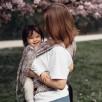 Limas Baby Carrier Blossom Taupe porte bébé physiologique en coton bio