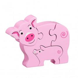Puzzle Cochon et bébé en bois Lanka Kade