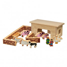 Colorful solid wood stable 19 pieces Lanka Kade