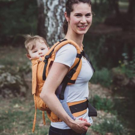 Limas Flex Ocher porte bébé physiologique en coton bio