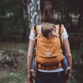 Limas Flex Ocre porte bébé physiologique en coton bio