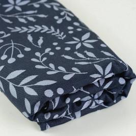 Limas Flora Midnight Blue - Écharpe de portage tissée en coton bio 460 cm